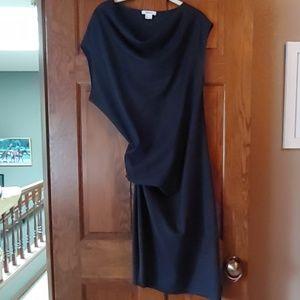 EUC Helmut Lang Slate Blue Asymmetric Dress L